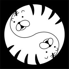 初期のオリジナル家紋の虎