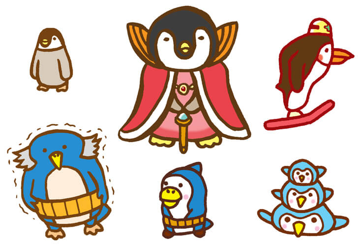 ペンギンのオリジナルキャラクターイラスト