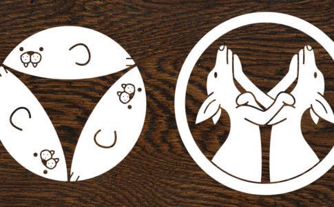 海獣と有袋類のオリジナル家紋まとめ