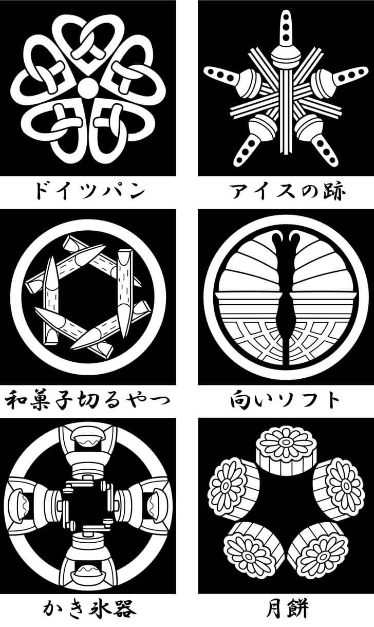 月餅等のオリジナル家紋