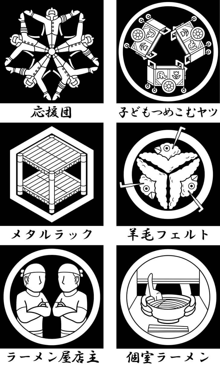 応援団等のオリジナル家紋