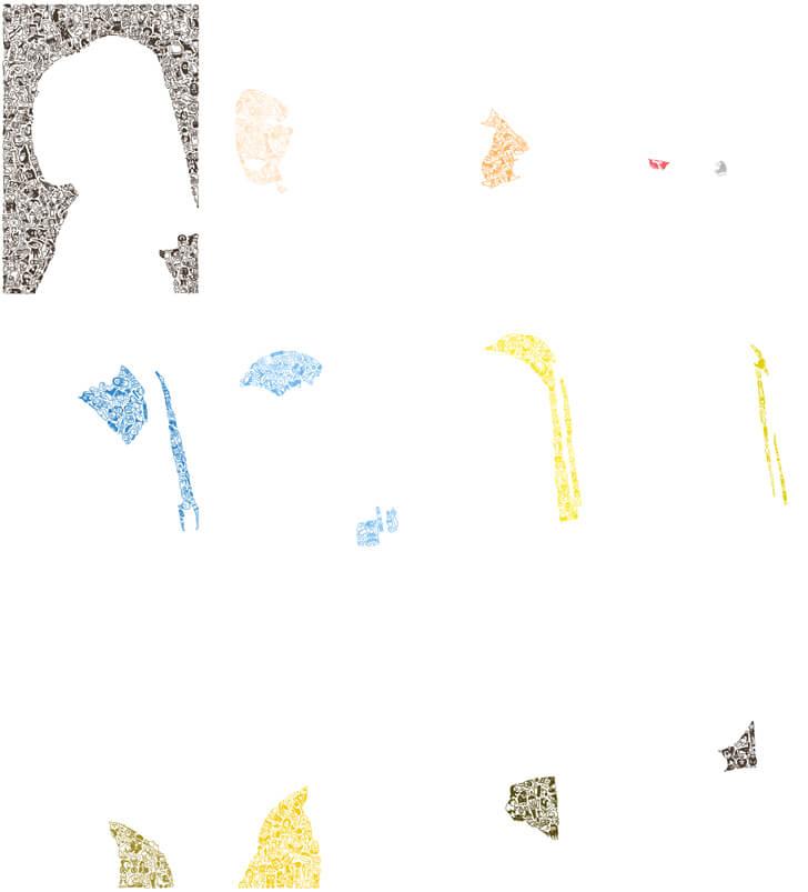 フェルメールのボールペン画の部分