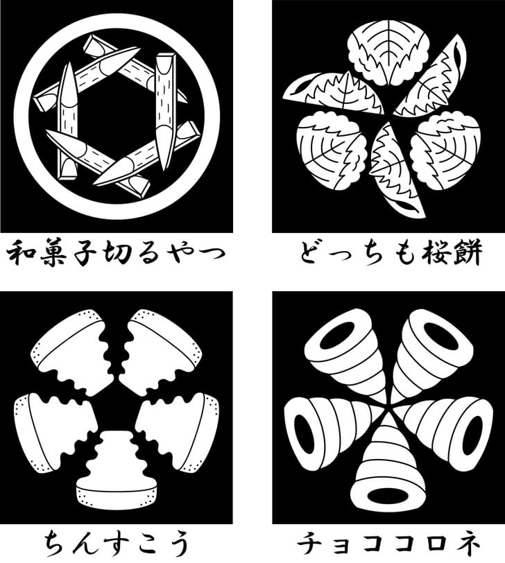 桜餅等のスイーツのオリジナル家紋