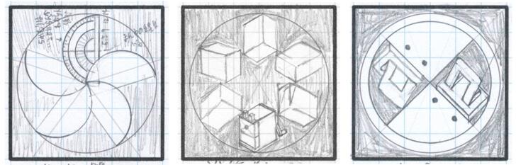 家紋自作シートの作例
