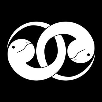 干支の巳のオリジナル家紋