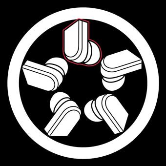 ワイヤレスイヤホン家紋の作り方例