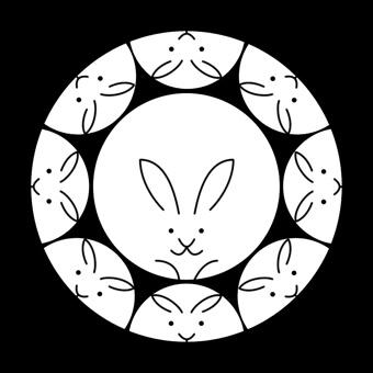 干支の卯のオリジナル家紋