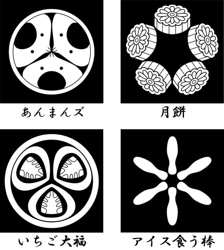 月餅等のスイーツのオリジナル家紋
