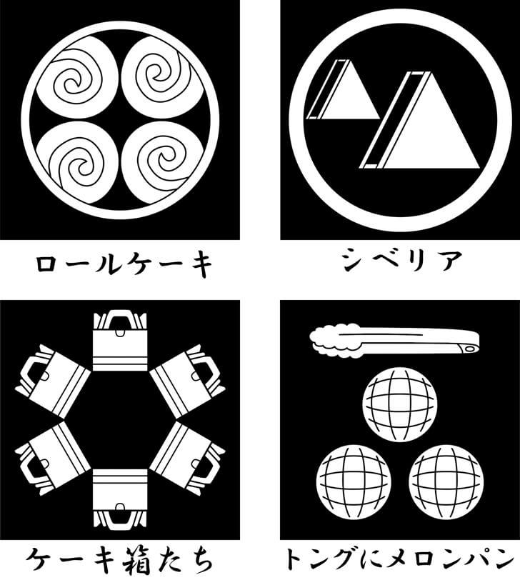 メロンパン等のスイーツのオリジナル家紋