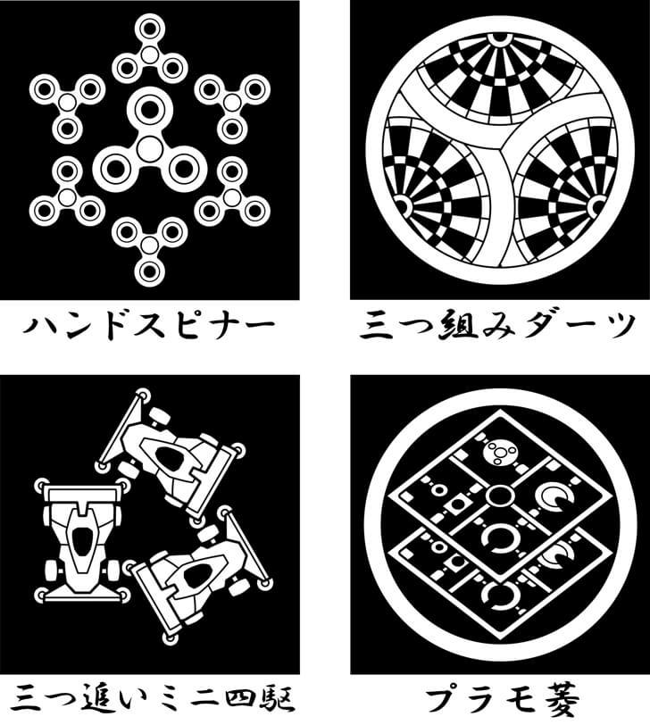 ミニ四駆等の玩具のオリジナル家紋