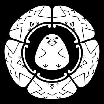干支の酉のオリジナル家紋
