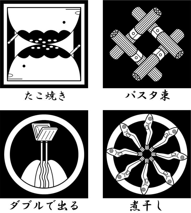 ディスペンパックなどの食べ物の家紋