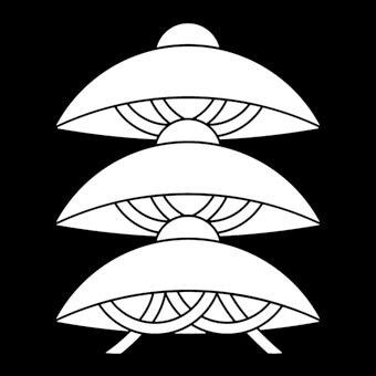 三階笠の家紋