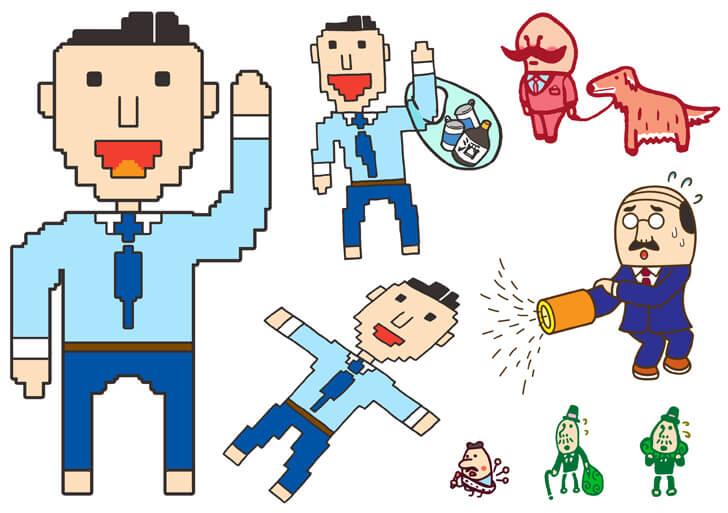 会社員のキャラクターイラスト