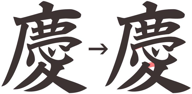 慶の文字の比較資料