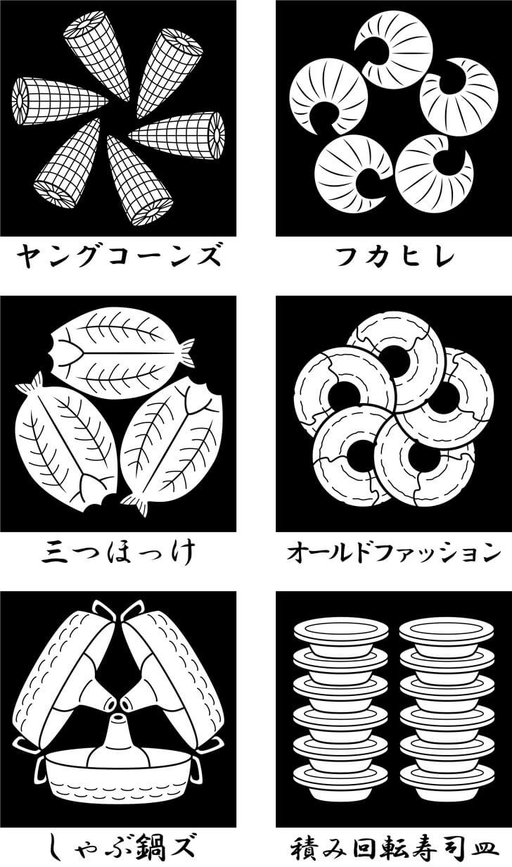 食べ物のオリジナル家紋