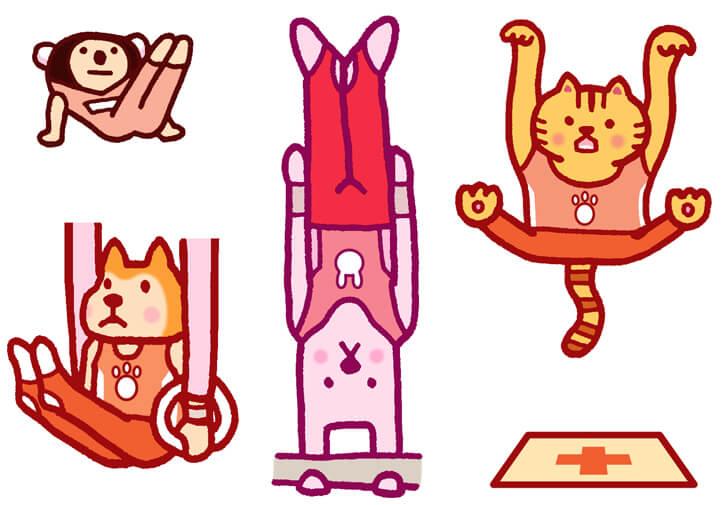 体操のキャラクターイラスト