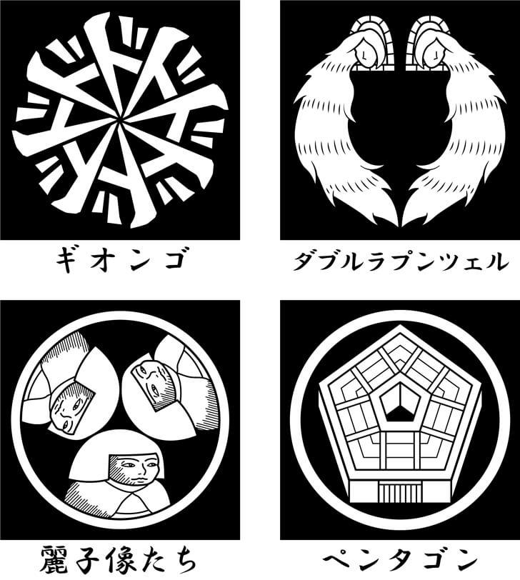 ジョジョの擬音語のオリジナル家紋
