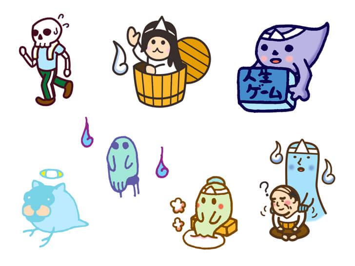 幽霊のキャラクターのイラスト